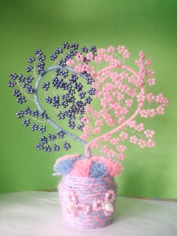 Дерево сердце из бисера мастер класс с пошаговым фото
